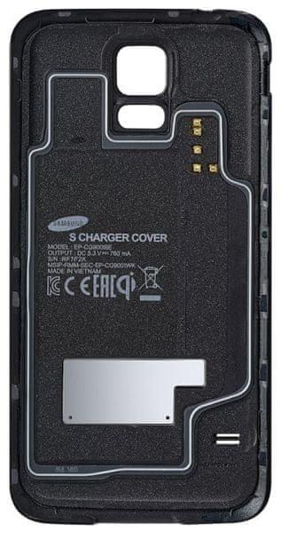 Samsung zadní kryt pro bezdrátové nabíjení Galaxy S5, černý