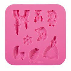 Tescoma DELÍCIA DECO szilikon kislányos forma, Rózsaszín