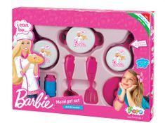 Faro komplet posod in pripomočkov Barbie, kovinski