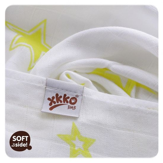 XKKO Bambusové pleny Stars 70x70 cm