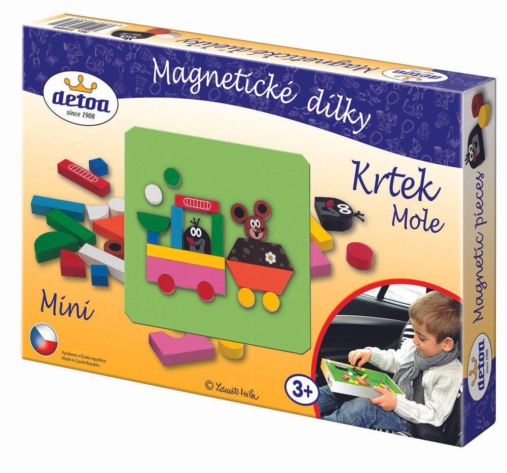Dřevěné hračky Magnetické dílky Krtek MINI