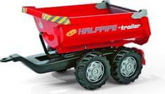 Rolly Toys prikolica za traktor Halfpipe, rdeča