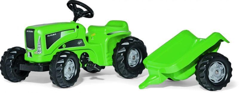 Rolly Toys Šlapací traktor Kid Futura s vlečkou zelený