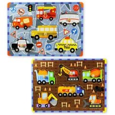 Marionette Drewniane puzzle - pojazdy, 2 zestawy