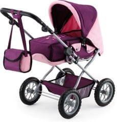Bayer Design voziček za punčke Kombi Grande, vijolično/roza