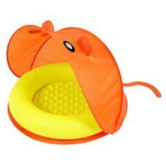 Bestway napihljiv bazen s streho, oranžen