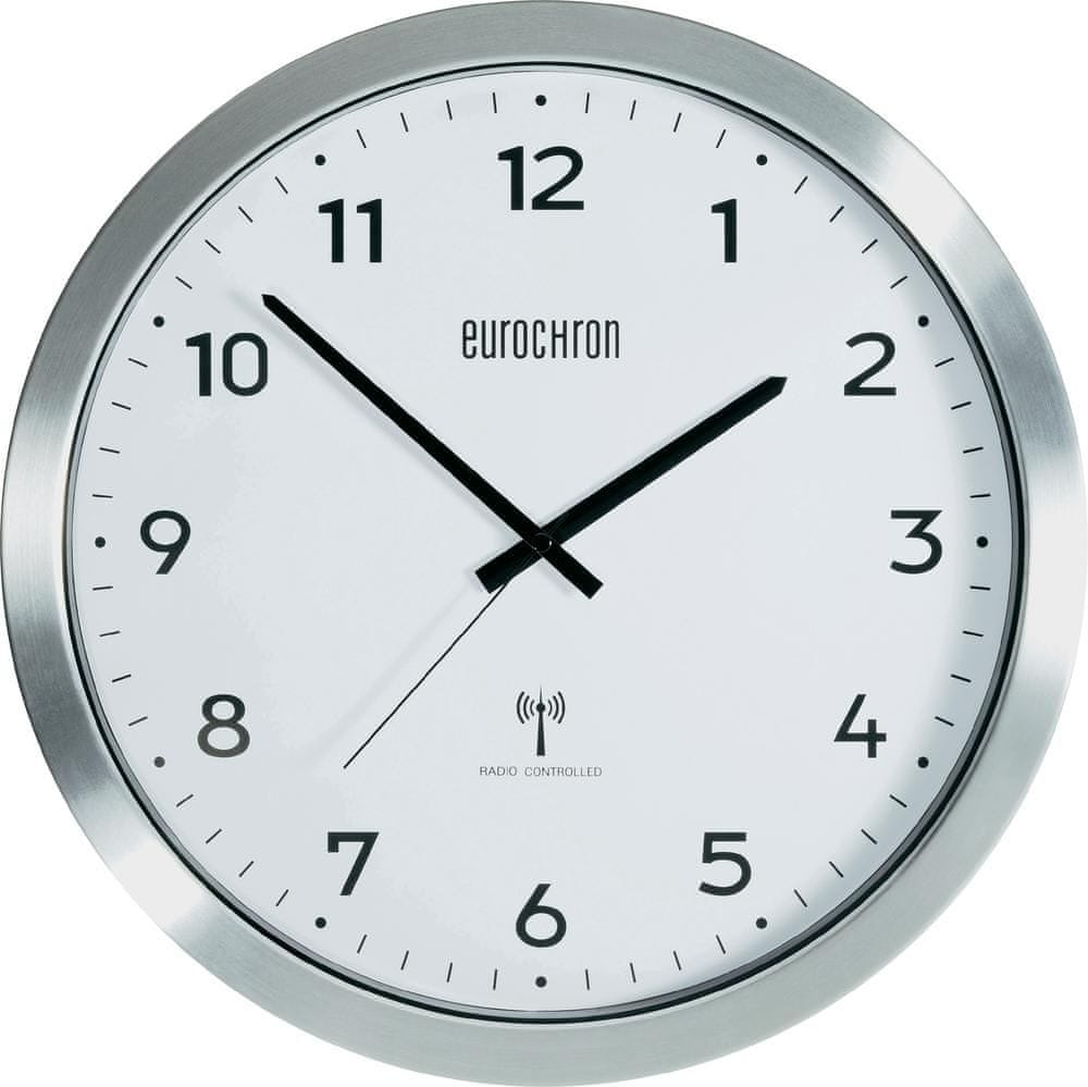 Eurochron Hliníkové nástěnné DCF hodiny EFWU 2600