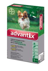 Bayer Advantix pro psy spot-on do 4 kg 1x0,4 ml
