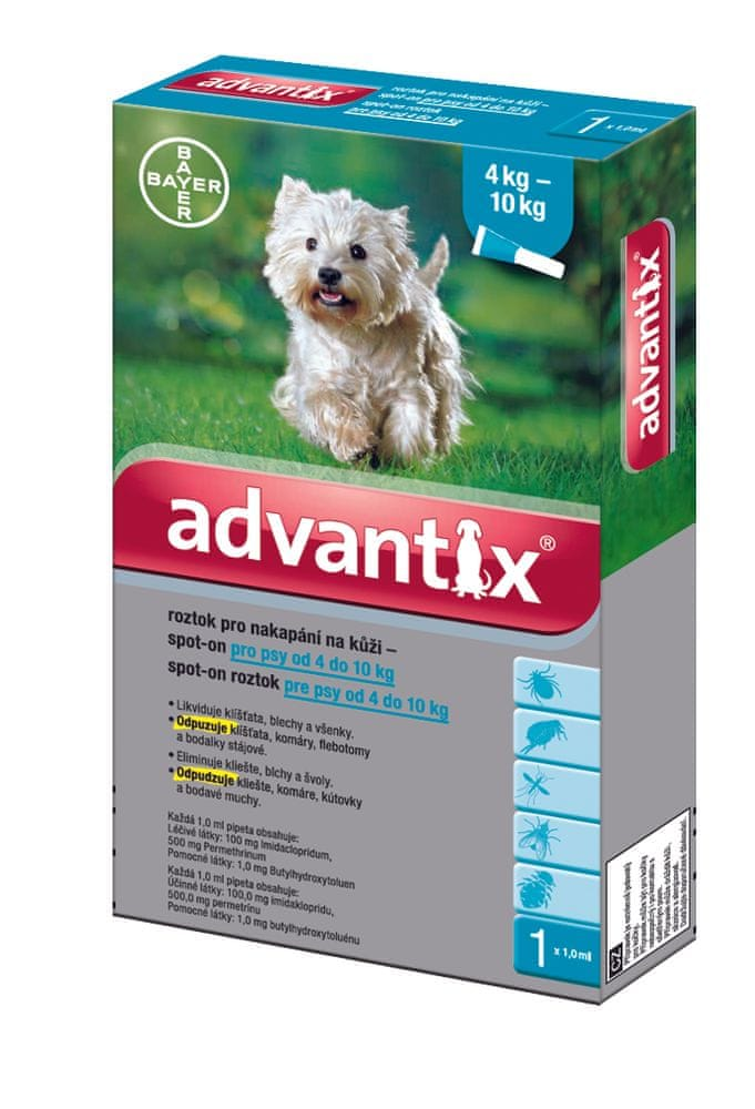 Bayer Advantix pro psy spot-on pes 4-10kg 1x1 ml