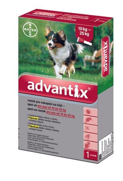 Bayer Advantix pro psy spot-on 10-25kg 1x2,5 ml