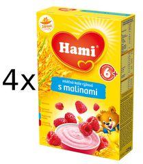 Hami Mléčná kaše s malinami - 4 x 225g