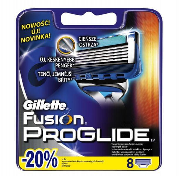 Gillette Fusion ProGlide Manual - náhradní hlavice 8 ks