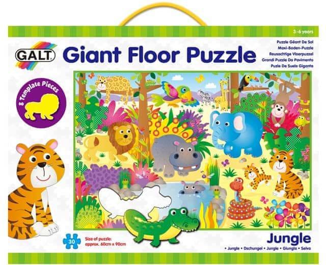 Galt Velké podlahové puzzle zvířátka v džungli