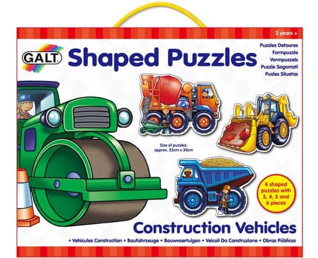 Galt Tvarované puzzle – pracovní stroje