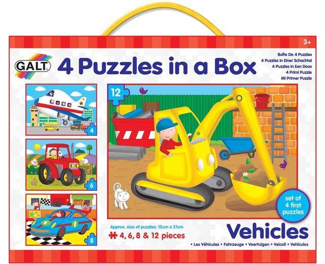 Galt 4 Puzzle v krabici - dopravní prostředky