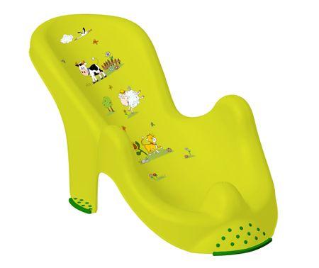 """keeeper 8720 Anatomiczny fotelik do kąpieli """"Funny Farm"""", zielona łąka"""