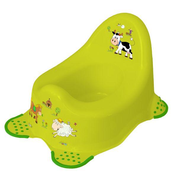 OKT Dětský nočník Funny Farm, zelená
