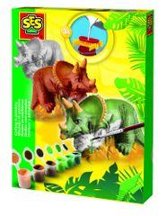 SES Sádrový komplet - Triceratops