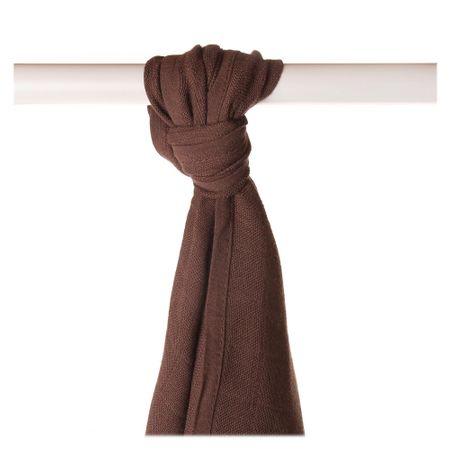 XKKO Bambusová osuška/plienka 90x100 cm - Dark Choco