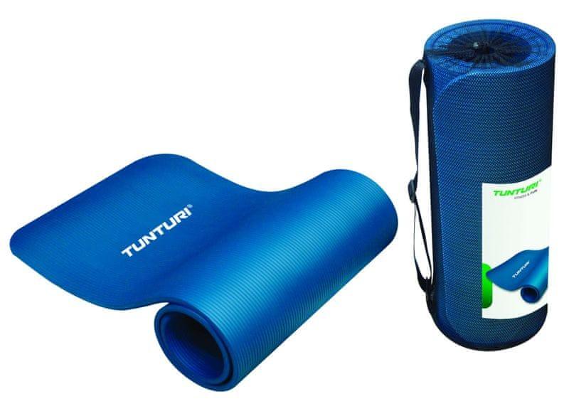 Tunturi Podložka na cvičení se síťkou modrá 185x60x1,5cm