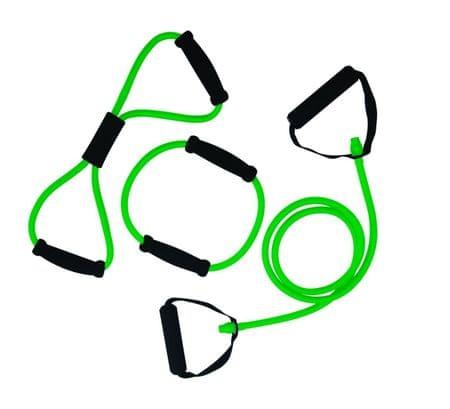 Tunturi Gumový expandér  s úchopy obtížnost střední zelený 3ks