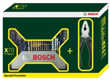 Bosch komplet orodja X-line Titanium 70 + klešče (2607017197)