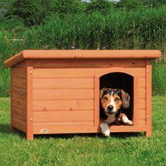 Trixie lesena hiška za pse z ravno streho, M