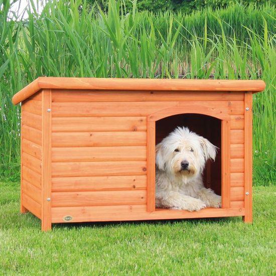 Trixie Bouda pro psa, dřevěná, rovná střecha, M-L: 104x72x68 cm