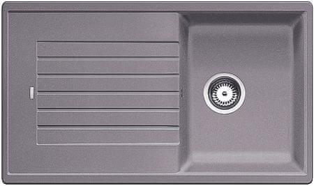BLANCO zlewozmywak granitowy ZIA 45 SL, alumetalik (516739)