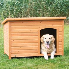 Trixie lesena hiška za pse, ravna streha, XL