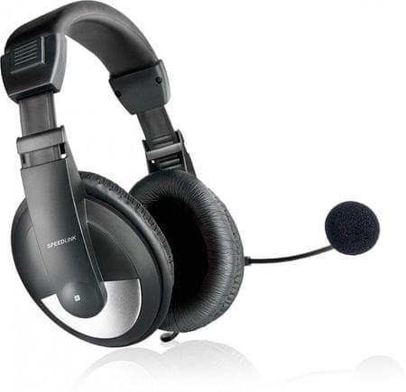 Speedlink slušalke Thebe stereo SL-8743-BK, črne