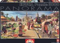 EDUCA Puzzle Panoramatický Globálny svet, 3000 dielikov