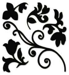 Crearreda Stenska dekorativna nalepka, črna veja