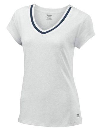 Wilson majica s kratkimi rokavi W Specialist Cap Slv Top, bela - XS