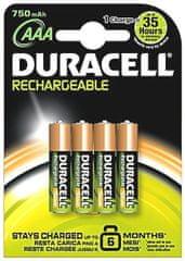 Duracell polnilna baterija 750 mAh AAA K4