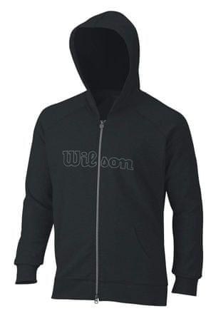 Wilson M W Logo Zip Hoodie Black L