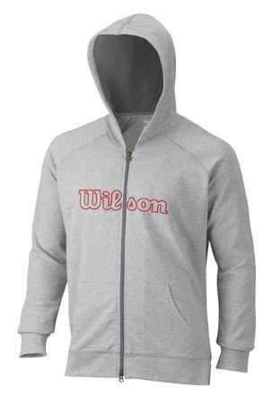 Wilson M W Logo Zip Hoodie Graphite L
