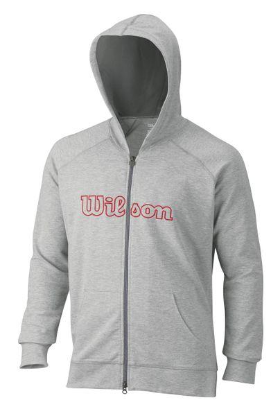 Wilson M W Logo Zip Hoodie Graphite XL
