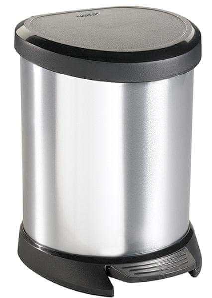 Curver Odpadkový koš DECOBIN pedal 5 l stříbrná