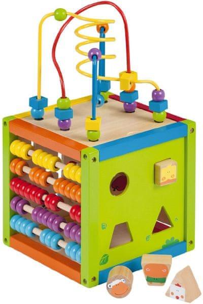 Johntoy Dřevěné hrací centrum - kostka