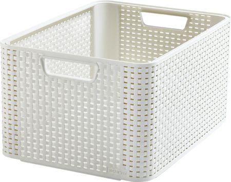 Curver škatla za shranjevanje, ratan, L, bela