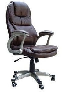 Pisarniški stol K-8893B, črno usnje