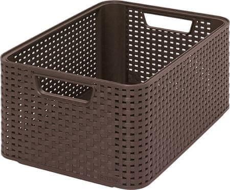 Curver škatla za shranjevanje, ratan, M, rjava