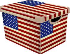CURVER Amerikai zászlós Tároló doboz, L