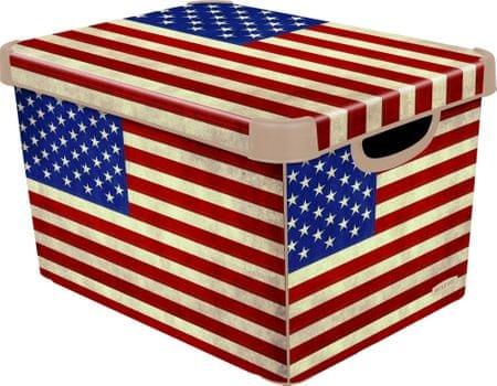 CURVER Pojemnik Deco's Stockholm L American Flag 25 l