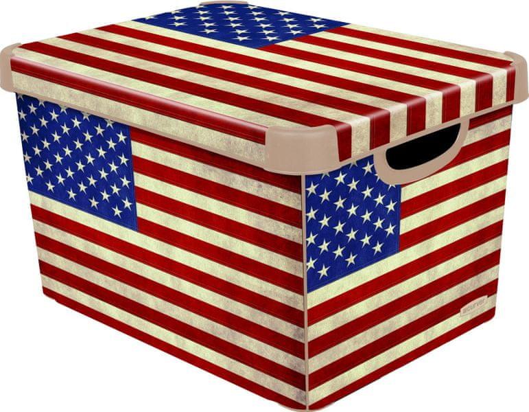 Curver Dekorativní úložný box American Flag 25 l