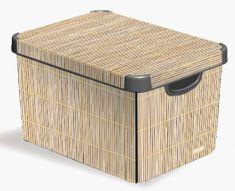 Curver Dekorativní úložný box Bamboo 25 l