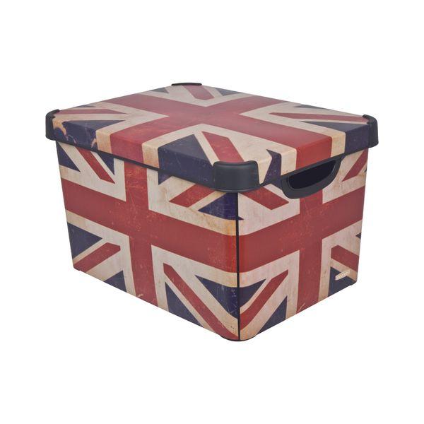 Curver Dekorativní úložný box British Flag 25 l