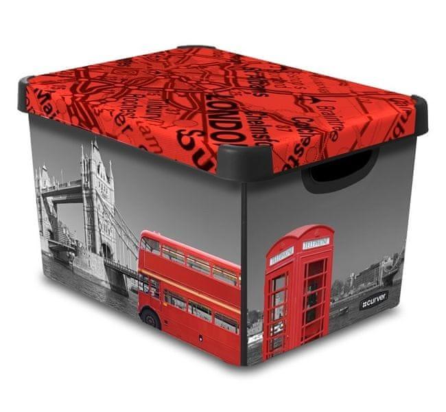 Curver Dekorativní úložný box Londýn 25 l