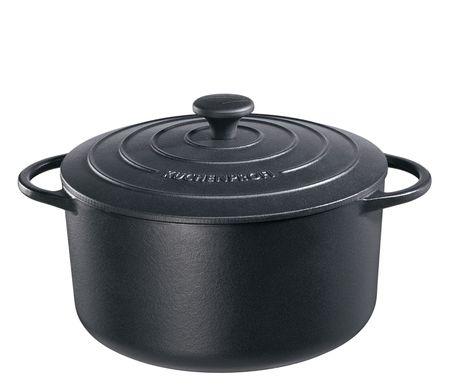Küchenprofi lonec za pečenje, 26 cm, črni